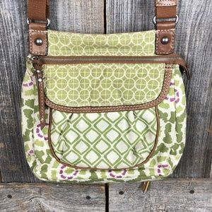 Fossil Canvas Crossbody print handbag purse